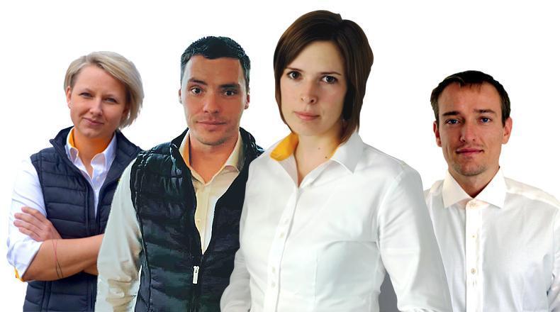 Zleva: Ing. Olga Bunková, Ing. Richard Krobot, Ing. Petra Jančíková, Ph.D. a  MVDr. Václav Hůlka
